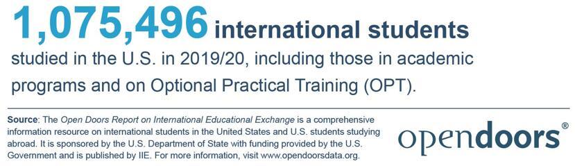 《2020美国门户开放报告》发布,留学生连续5年超百万