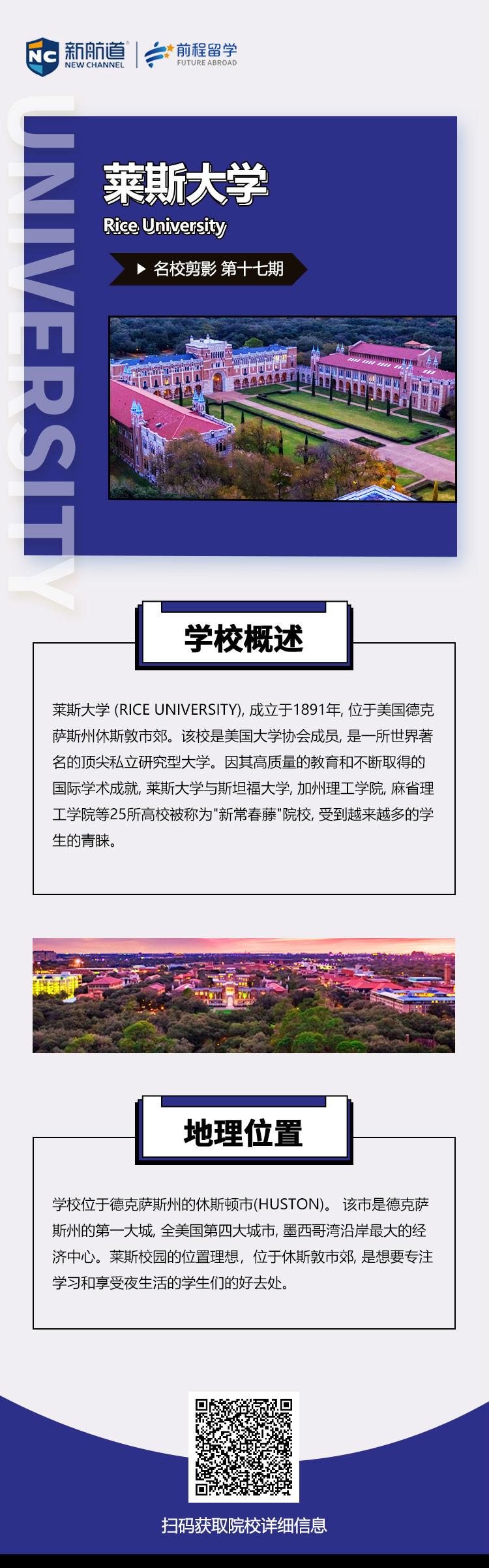 《名校剪影》之莱斯大学本科留学申请条件