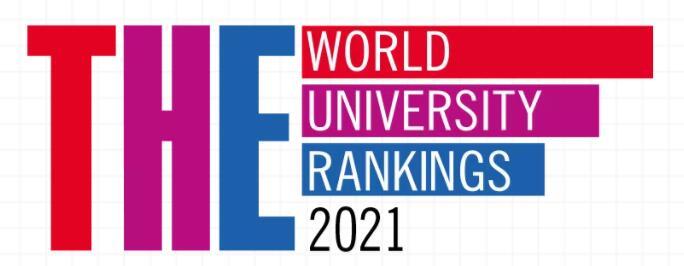 2021年泰晤士世界大学排名,TOP100排名中7所来自德国